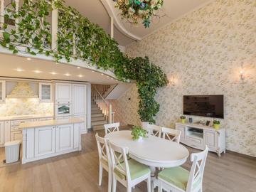 ЖК Идеал Хаус ( с бассейном ) - Двухуровневая квартира с видом море и просторной открытой террасой